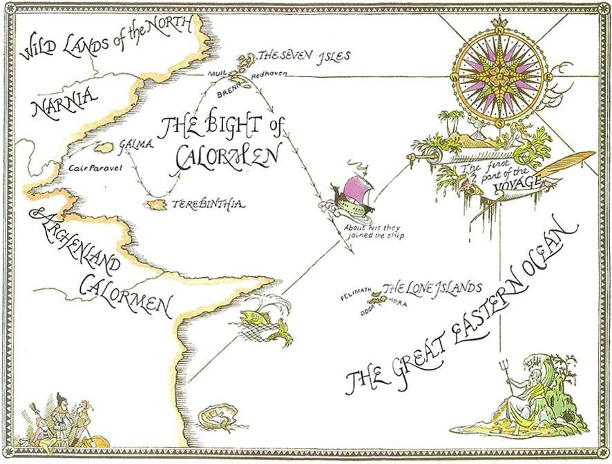 Narnia Maps: Voyage of the Dawn Treader