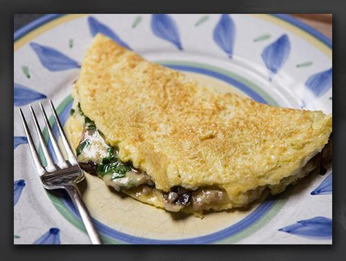 Narnia Recipes: English Omelette serve