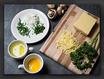 Narnia Recipes: English Omelette ingredients