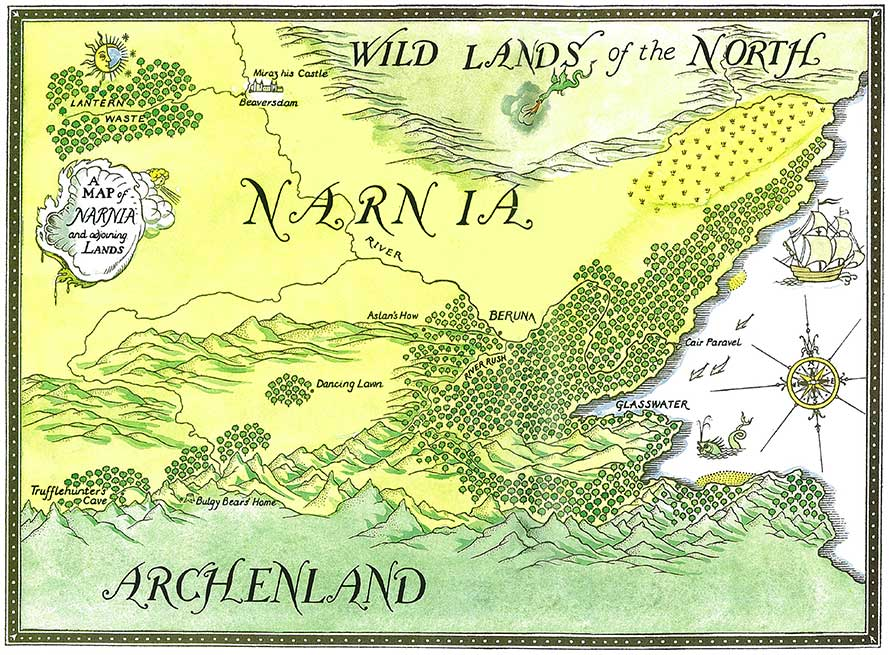 Map Of Narnia Narnia Maps: Prince Caspian   Official Site | Narnia.com